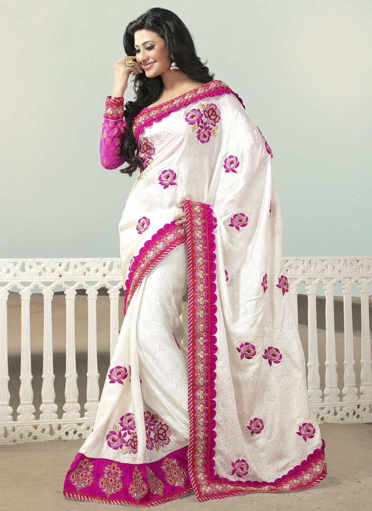 Sari's are so pretty ! Wish I could just find panels of the fabric where I live