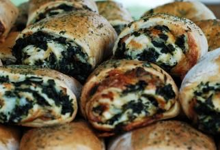 Spinach Stromboli  My kids loved it!