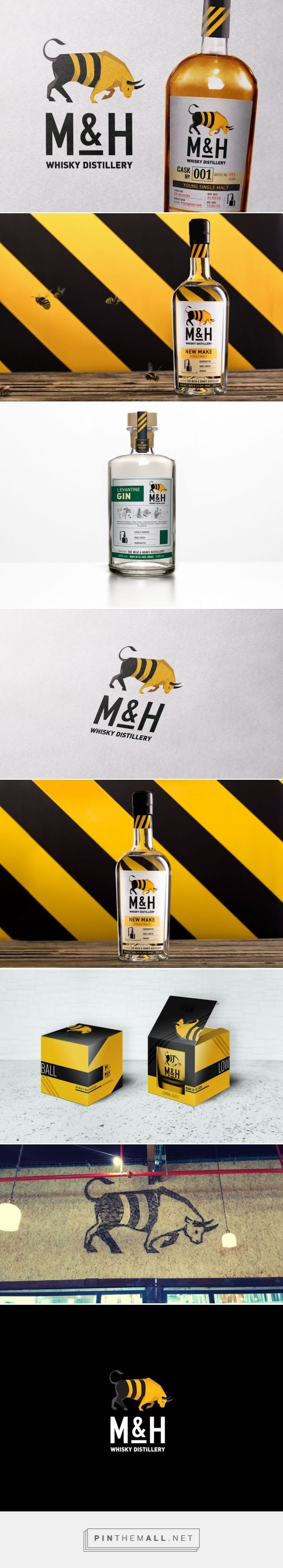 The Milk And Honey Distillery - Packaging of the World - Creative Package Design Gallery - http://www.packagingoftheworld.com/2016/06/the-milk-and-honey-distillery.html