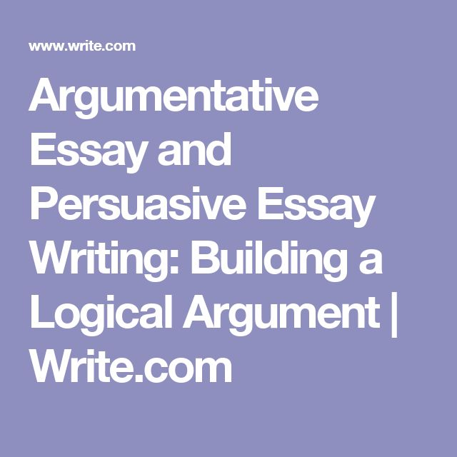 Argumentative essay writing tips