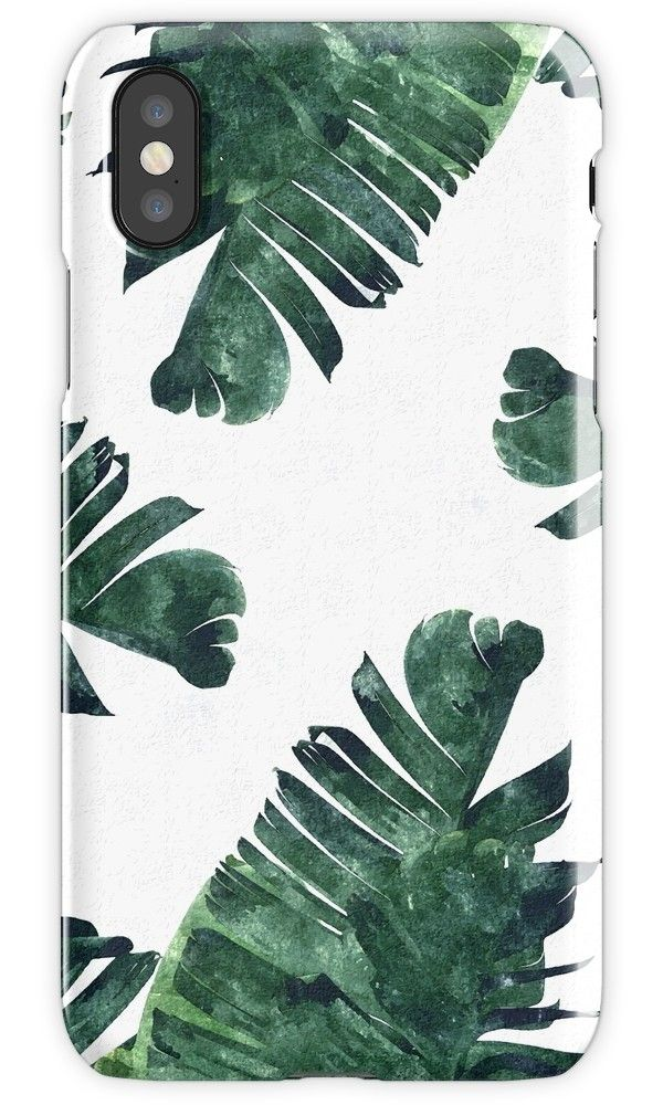 'Banana Leaf #Watercolor Pattern #redbubble' iPhone Case by 83oranges