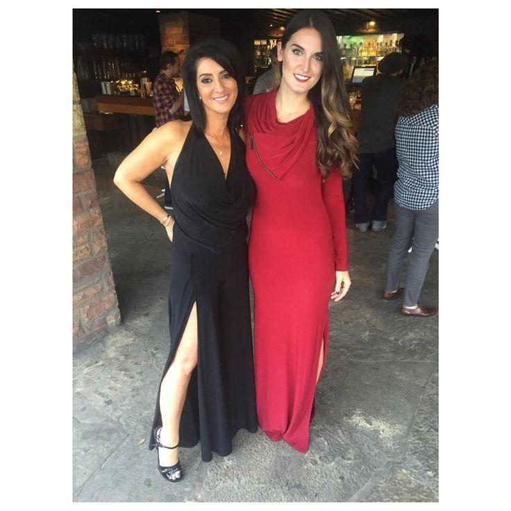 hese two @smprco beauties, Jen & Alie, look stunning in their Oakley Pantsuit (left) & Meited Dress (right) for Premios De La Radio! #madeforyou #AbiFerrin #premiosdelaradio #teamunicorn #fashion #style #beauty #awardshow #fallstyles #OakleyPantset #MeitedDress