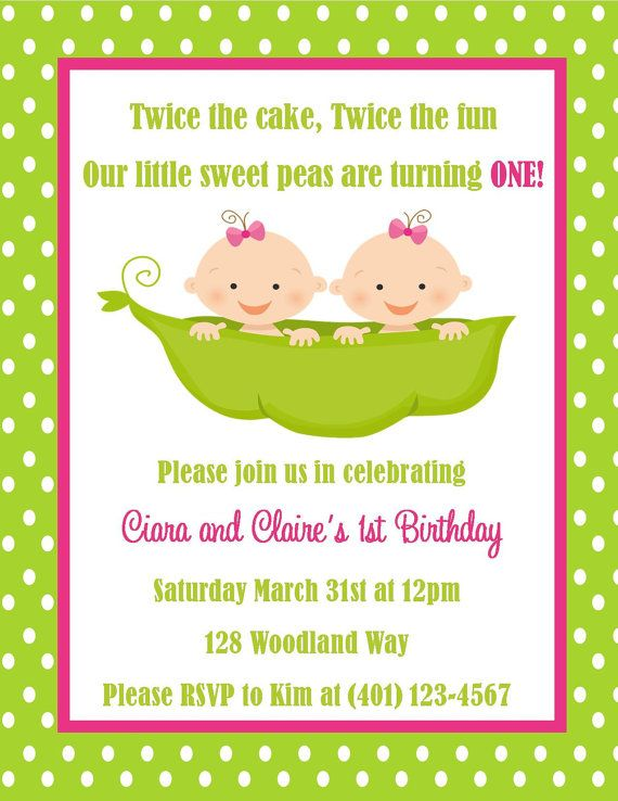 21 best baby birthday ideas images on pinterest birthday party twins birthday invitation digital file filmwisefo Images