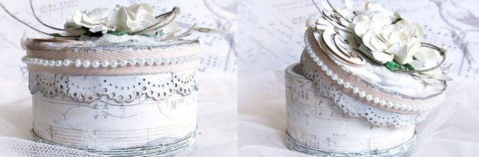 Vkládám pěkný návod na nápad jak vytvořit pěknou šperkovnici z kolečka od izolepy. Myslím si, že je možné i polepit jiným vzorem a bude to vypadat skvěle!