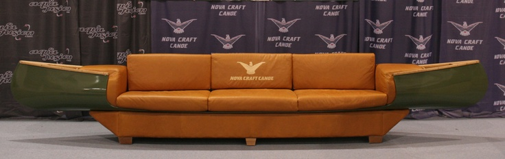 Canoe Couch. If it's a quiet trade show, may as well be comfortable.