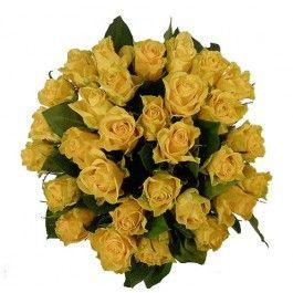 Boeket gele rozen