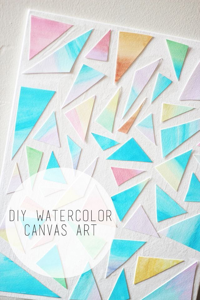 Diy Watercolor Canvas Art Watercolor Art Diy Diy Canvas Art