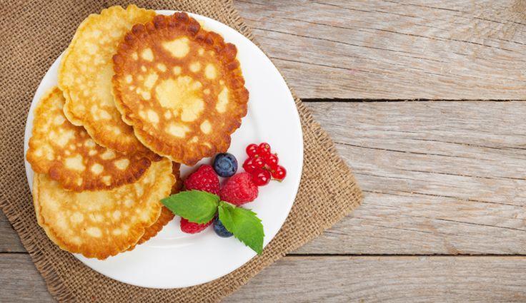 Frischkäse-Pancakes