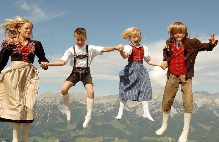 KInderen in Katzüheler-Alpen.......Oostenrijk