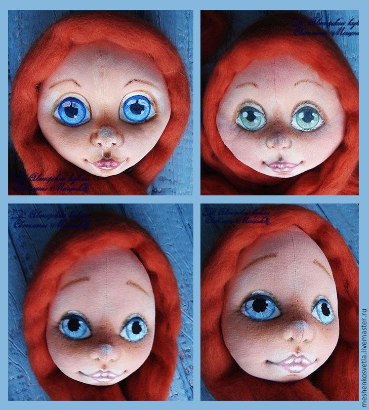 Как нарисовать радужку глаз текстильной куклы акварельными карандашами - Ярмарка Мастеров - ручная работа, handmade