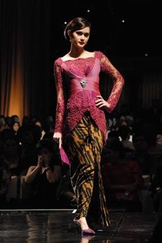 The Modern  Kebaya....A Kebaya is a traditional blouse-dress combination that originates from Indonesia and worn by women in Indonesia, Malaysia, Brunei, Burma, Singapore, southern Thailand.