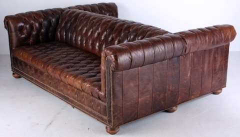 We Love This Double Sided Leather Couch Inspirations