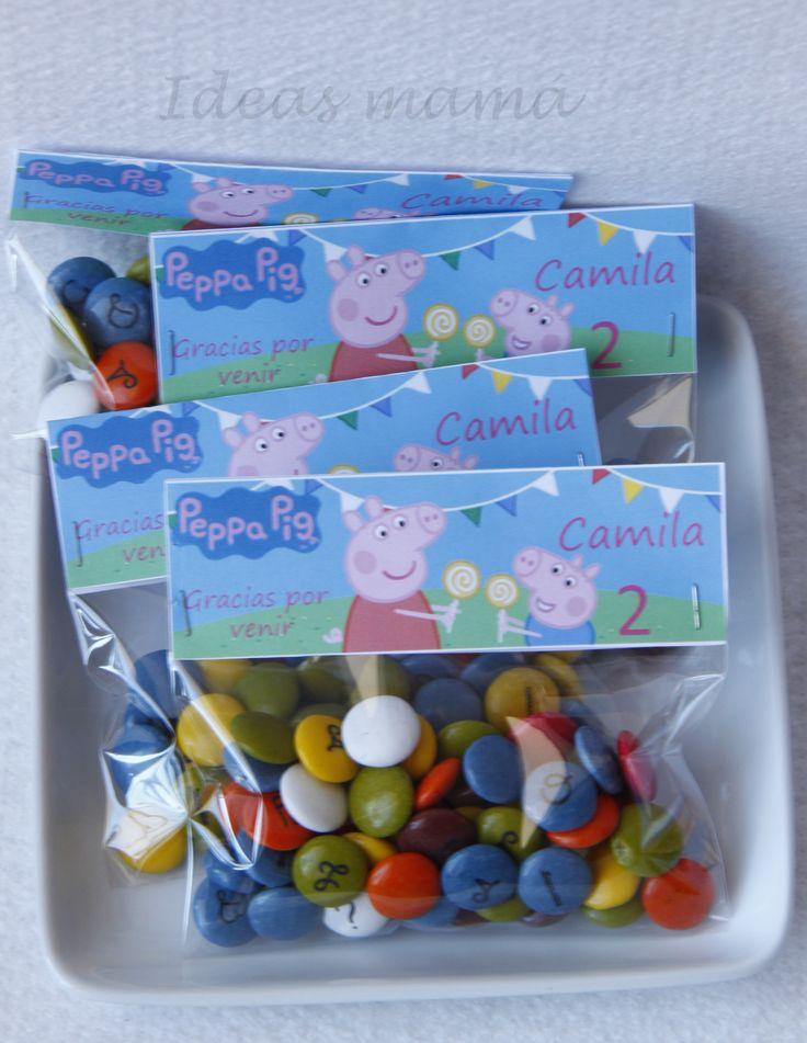Bolsa regalo Peppa Pig. Impresiones personalizadas: www.facebook.com/ideasmama
