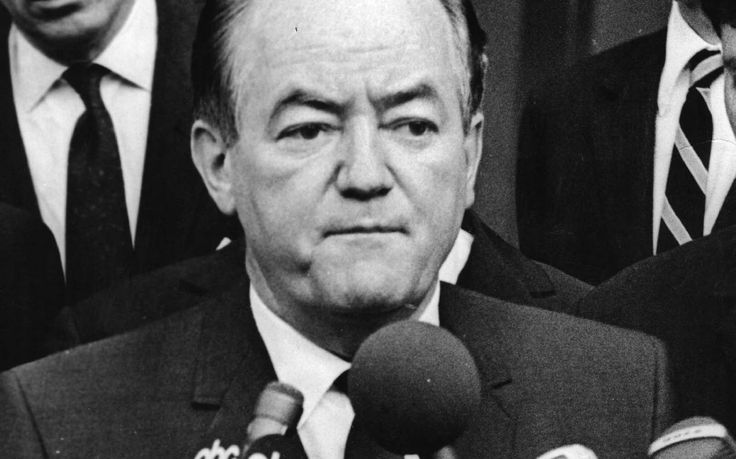 Happy Vice President Hubert Humphrey | Former Vice President and U.S. Sen. Hubert H. Humphrey was born on ...