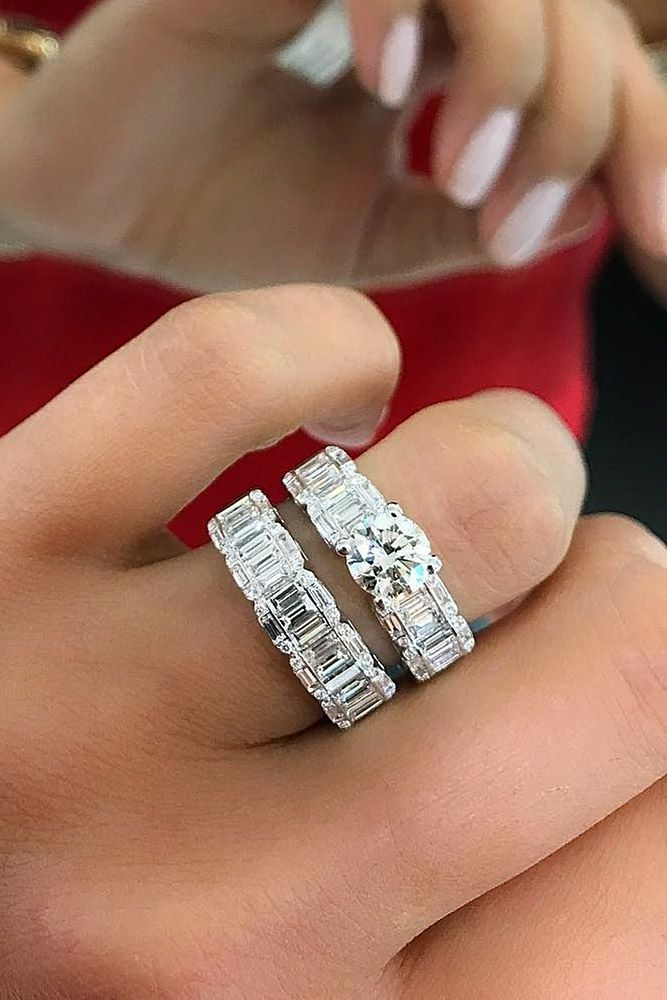 30 Beautiful Wedding Ring Sets For Your Diamond Settings Pinterest Rings And