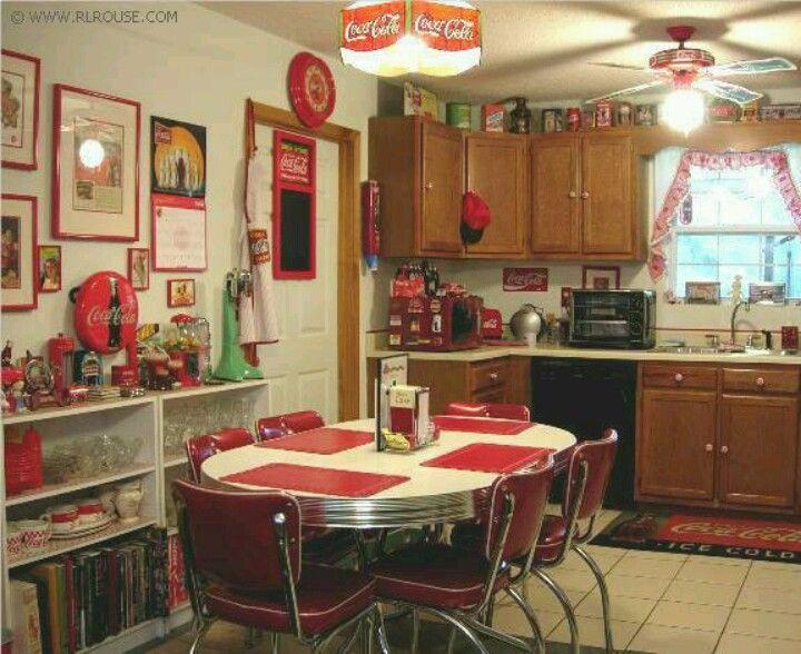 Coke Kitchen, perfect except needs more black and white stuff