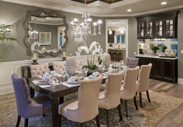 Champagne chooses beige for its dinner partner in this casually elegant interior (Henley Renaissance - Bromley Estates, NC)