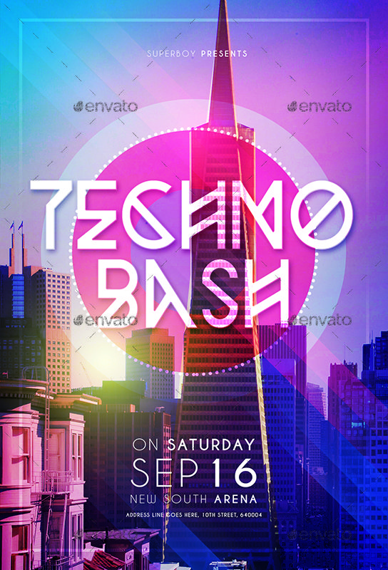 Techno Bash Party Flyer