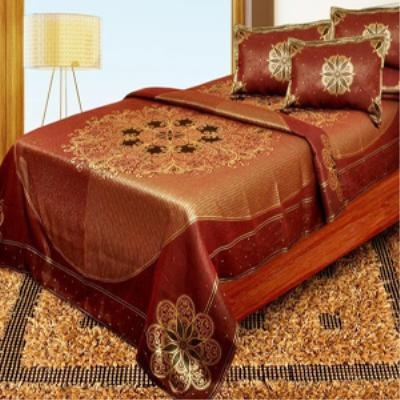 http://www.craffts.com/  IGB-Weaving Designer Bed Sheets    $ 39.64