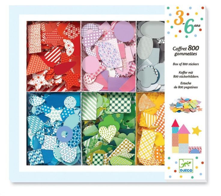 Djeco - Big Box of 800 Stickers Packaging What fun  Amelia, Emmett and Elliott could have with these stickers and their activity books #EntropyWishList and #PinToWin