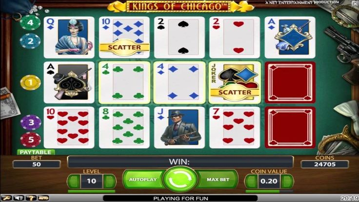 Kings of Chicago™ es un juego de máquina tragamonedas de 5 tambores y 5 líneas creadas por NetEnt. Jugar gratis en TragamonedasX.com: http://tragamonedasx.com/juegos-gratis/kings-chicago/