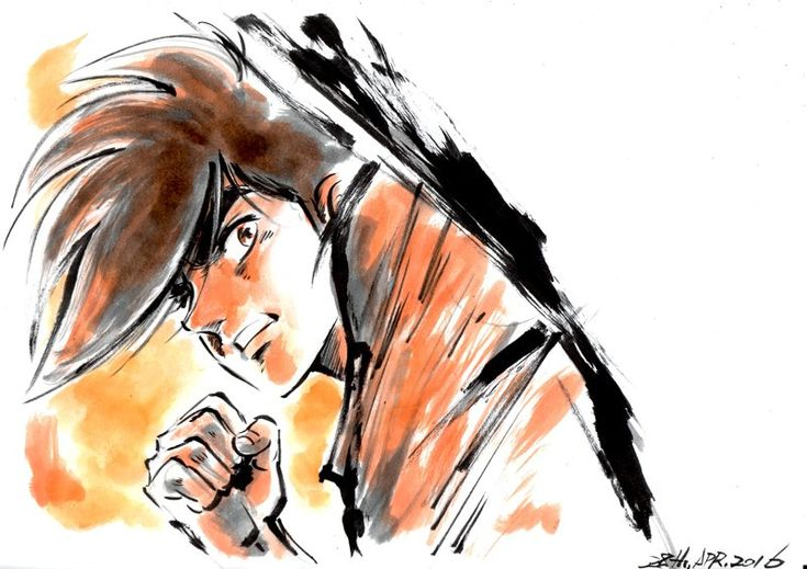 "#JoeYabuki d' #AshitanoJoe, par @hayama11, directeur de l'animation sur #StarDriver "" #dessin #manga #anime"