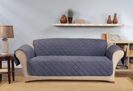 Sure Fit Slipcovers Memory Foam Furniture Covers - sofa pet throw