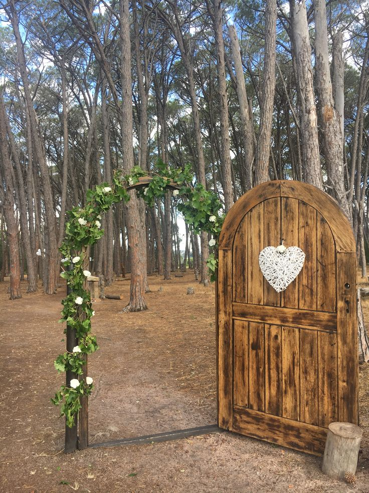 Wedding Ceremony  Forest Weddings Door leading into Forest Stone podium altar Wedding venue in Cape Town close to Stellenbosch Ido @ WineryRoadForest