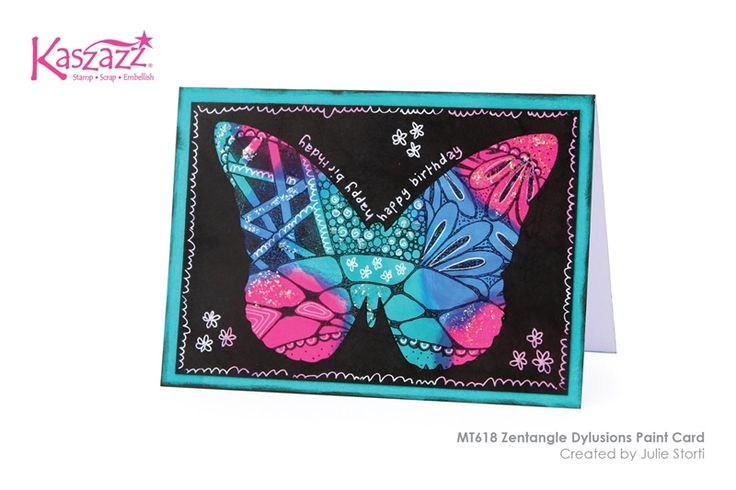 MT618 Zentangle Dylusions Paint Card
