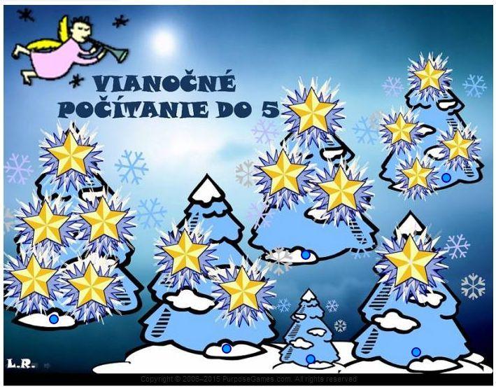 Vianočné počítanie do 5 (hviezdy) http://www.purposegames.com/game/vianocne-pocitanie-do-5-hviezdy-quiz