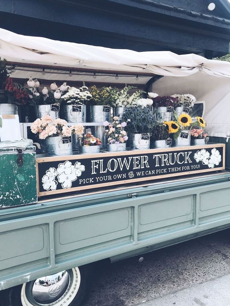 Amelias flower truck can often be found selling flowers