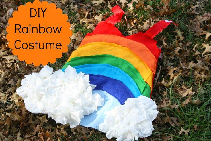 DIY Rainbow Costume #rainbowcostume #potterybarnknockoff #diycostumes