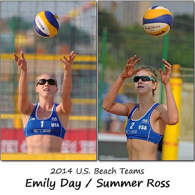Beach volleyball partners for 2014: Emily Day and Summer Ross