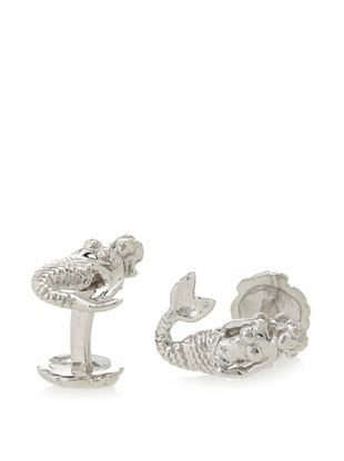 54% OFF Rotenier Sterling Silver Mermaid and Shell Cufflinks