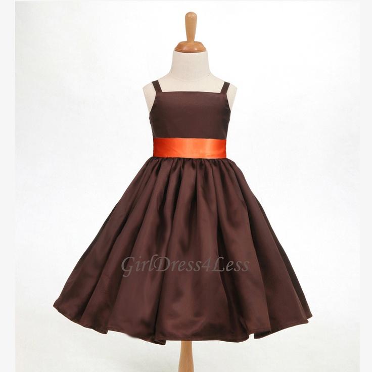 Chocolate flower girl dress