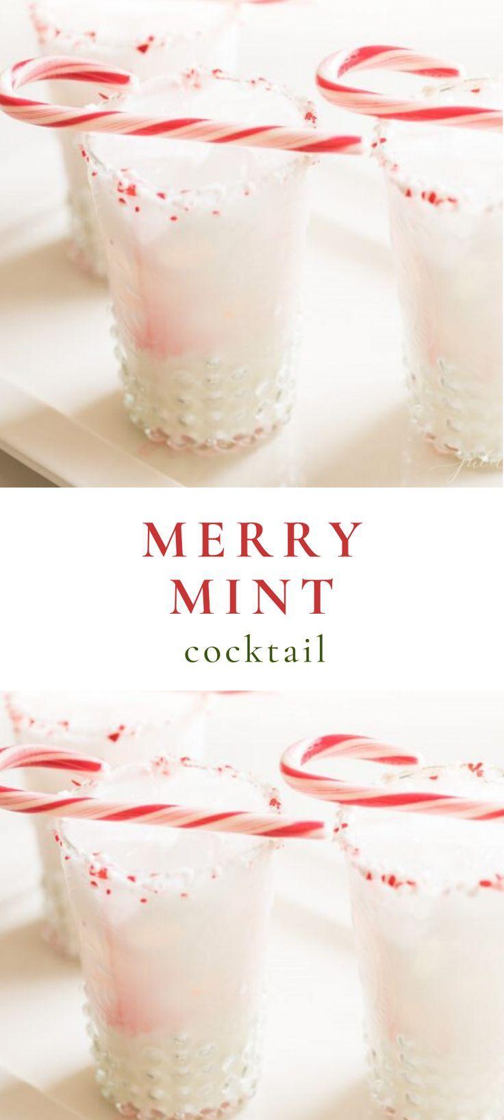 Merry Mint Cocktail Mint Cocktails Christmas Cocktails Vodka Schnapps