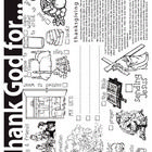 FREE This Thanksgiving coloring sheet emphasizes what children can, and should be, thankful to God for.    *PLEASE NOTE: This product contains a Christi...