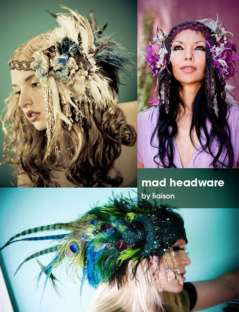 Love these head pieces!