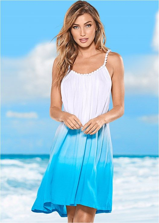 10e05f5fac984 Ombre cover-up | For Jamaica | Dresses, Womens linen clothing, Plus ...