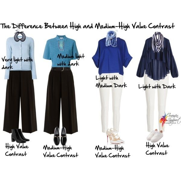 What Exactly Is Medium High Value Contrast Contrast Outfit Inside Out Style Capsule Wardrobe Women