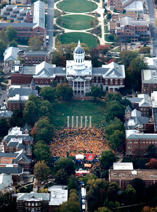 ESPN's College Football Gameday broadcast from the University of Missouri.