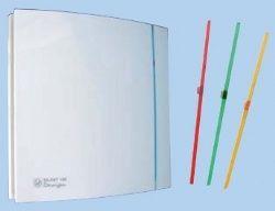 Unelvent SILENT 100CHZ DESIGN aérateur d'air ponctuel 403502  /   Esthétique - Très faible niveau sonore - Très faible consommation - Extra-plat - Faible profondeur - Roulement à billes - Clapet anti-retour - Installation murale ou en plafond - Passe câble avec joint caoutchouc - Voyant de fonctionnement