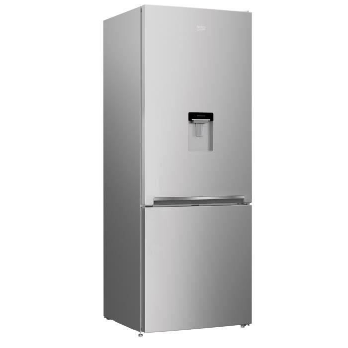 Congélateur bas - 450L (326+124) - Froid ventilé - A+ - Distributeur d'eau - L 70cm x H 192cm - Silver