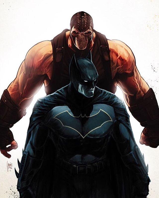 Batman vs. Bane  Art by Mikel Janín #Batman #Bane #JusticeLeague #JLA #DC #DCComics #DCUniverse #Rebirth #New52 #DetectiveComics