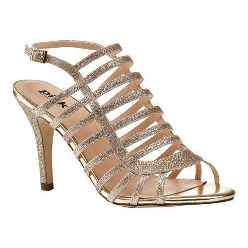 Women's Paradox London Skylar Cage Shoe Gold Synthetic