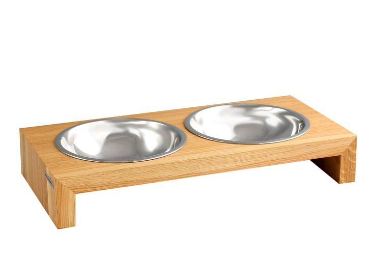 Hundebar aus Eiche mit Edelstahlnäpfen | NATUREHOME
