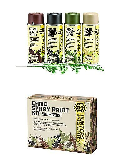 Camouflage Materials 177911: Hunters Specialties Camo Spray Paint Kit BUY IT NOW ONLY: $32.21