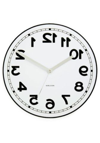 Backwards clock! Looks normal in the mirror...whoa.