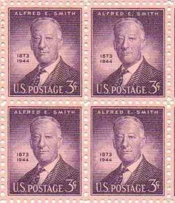 Alfred E Smith Set of 4 x 3 Cent US Postage Stamps NEW Scot 937 . $5.95. Alfred E Smith Set of 4 x 3 Cent US Postage Stamps NEW Scot 937