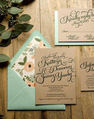 Каллиграфия на свадьбе, приглашение на свадьбу